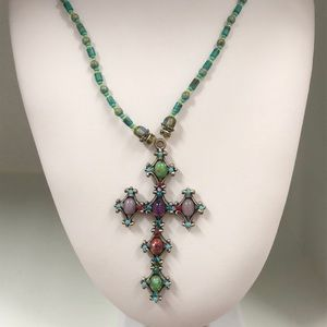 Jewelry - Harlequin Jeweled & Beaded Necklace $13